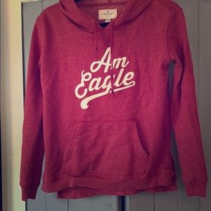 American Eagle hoodie. Size XS. Burgundy. EUC.